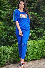 Костюм женский большого размера спорт лето, фото 2