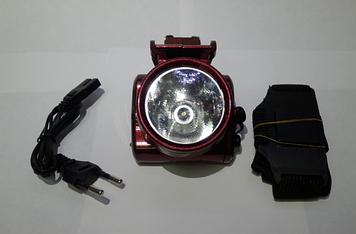 Светодиодный фонарик на голову аккумуляторный Yajia YJ-1898-1