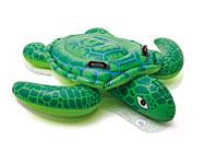 """Надувний матрас (плот) INTEX 57524 (6шт) """"Черепаха"""", вініл (3+ років), ручки, в кор. 150*127 см"""