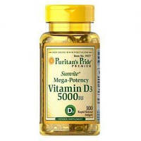 Витамин Д3 Puritan's Pride Vitamin D3 5000 IU 100 Softgels