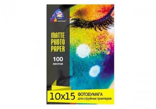 Матовая фотобумага INKSYSTEM 230g, 10x15, 100 л. для печати на Epson L566