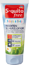 Детский защитный крем от укусов насекомых S-quito free Babys & Kids Insektenschutz, 100 мл.