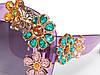 Очки с цветами из кристаллов в стиле D&G (коллекция ENCHANTED BEAUTIES) violet, фото 5