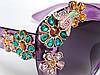 Очки с цветами из кристаллов в стиле D&G (коллекция ENCHANTED BEAUTIES) violet, фото 6