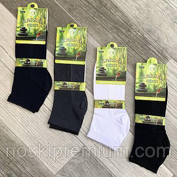 Шкарпетки чоловічі короткі сітка бамбук Karsel, без шва, 41-44 розмір, асорті, 03743