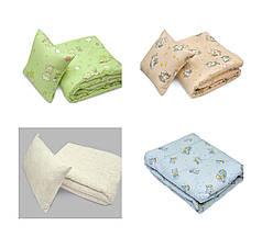 Комплект детский одеяло+подушка 40х60 в кроватку ТМ Ярослав цвета в ассортименте