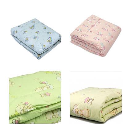 Одеяло детское стёганное силикон/бязь 105х140 ТМ Ярослав цвета в ассортименте, фото 2