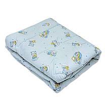Одеяло детское стёганное силикон/бязь 105х140 ТМ Ярослав цвета в ассортименте, фото 3