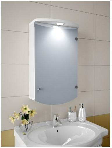 Шкаф зеркальный Garnitur.plus в ванную с LED подсветкой 3S (DP-V-200102)