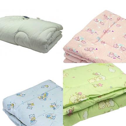 Одеяло детское шерстяное стёганное 100х140 ТМ Ярослав цвета в ассортименте, фото 2