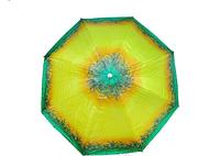 Зонт диаметром 2,2 м. Пластиковые спицы с клапаном. Пальмы, цвет Желтый