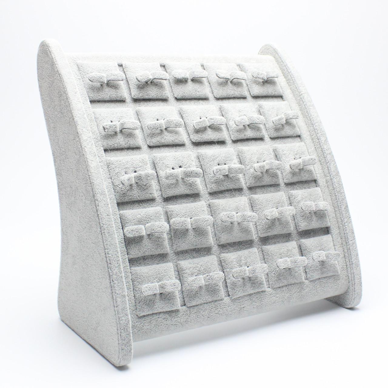 Подставка презентер для серег серая