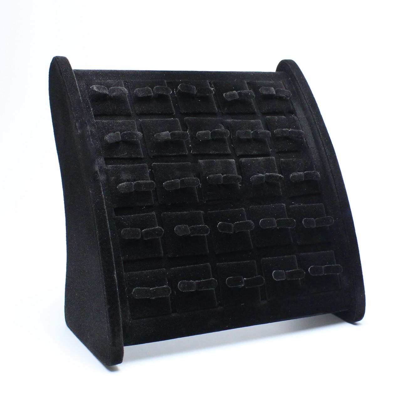 Подставка презентер для серег черная