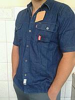 Мужская рубашка джинсовая в батале