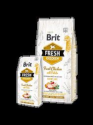 Корм Brit Fresh Adult Chicken with Potato Брит Фреш з куркою і картоплею для дорослих собак 2,5 кг