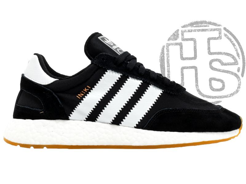 Чоловічі кросівки Adidas Iniki Runner Black White Gum BY9727