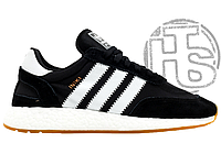 Мужские кроссовки Adidas Iniki Runner Black White Gum BY9727