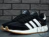 Чоловічі кросівки Adidas Iniki Runner Black White Gum BY9727, фото 4