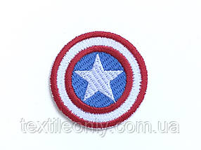 Нашивка Щит Капітана Америки 40 мм