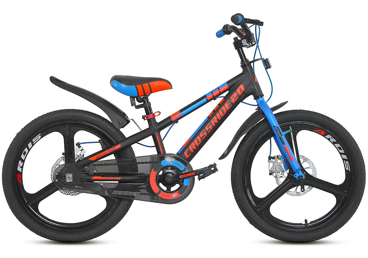 """Детский велосипед CROSSRIDE JERSEY 20"""" двухколесный, Черно-оранжевый"""