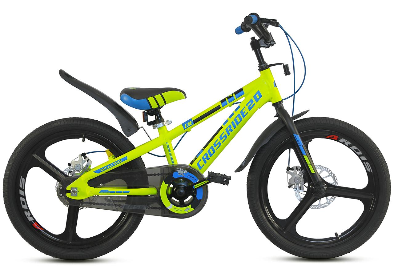 """Детский велосипед CROSSRIDE JERSEY 20"""" Салатовый"""