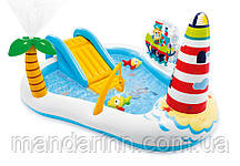 Надувний ігровий центр Весела рибалка з гіркою, фонтаном Intex 57162