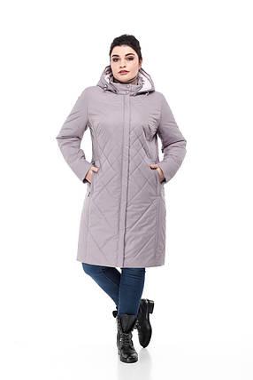 Модная удлиненная демисезонная куртка  размеры 48-60, фото 2