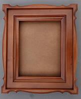Киот для иконы фигурный с широкой деревянной рамкой., фото 1