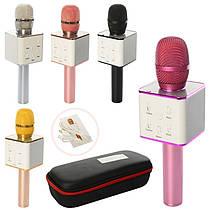 Мікрофон Q7, на акумулятор, USB, Bluetooth, мікс кольорів, футляр, 28-11,5-7 см
