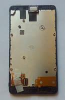 Nokia X RM-980 дисплей в зборі з тачскріном модуль з рамкою чорний