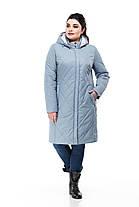 Модная удлиненная демисезонная куртка  размеры 48-60, фото 3