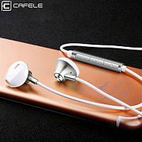 Высококачественные наушники-вкладыши Cafele проводные HiFi Stereo 3,5 mm с микрофоном (серебристый)