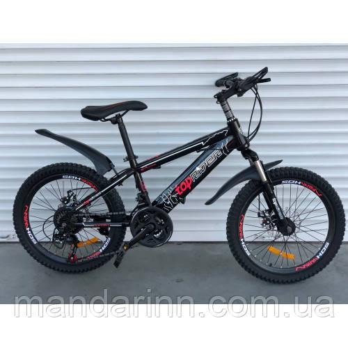 Велосипед Топрайдер-509 20дюймов.  21 скорость. Черно-красный