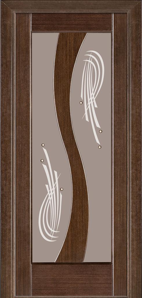 Двери Modern 15, полотно, шпон, венге, ясень Crema, ясень белый эмаль