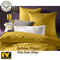 "Пододеяльник 240х220 Коллекции ""Elite Satin Stripe 8х8 mm Golden Fleece"". Страйп-Сатин (Турция). Хлопок 100%."