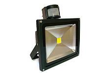 Прожектор светодиодный с датчиком движения 10 Ватт PREMIUM , фото 1