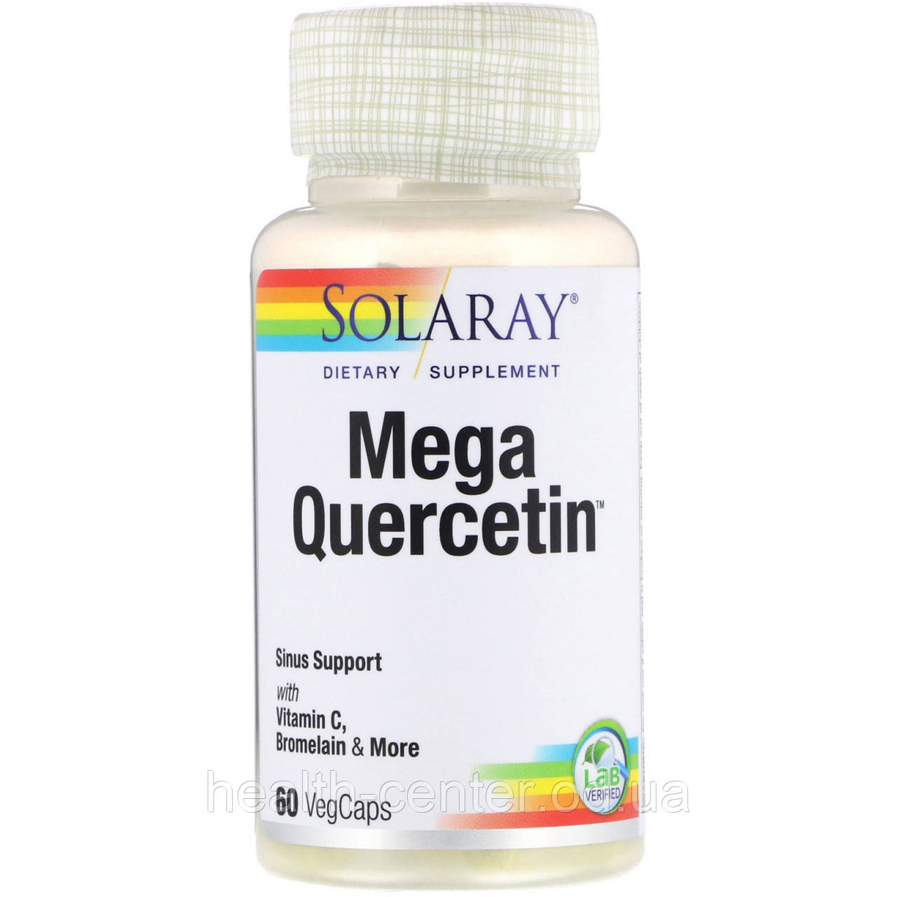 Мега Кверцетин (с бромелайном) 600 мг 60 капс от аллергии для сосудов противовоспалительное Solaray USA