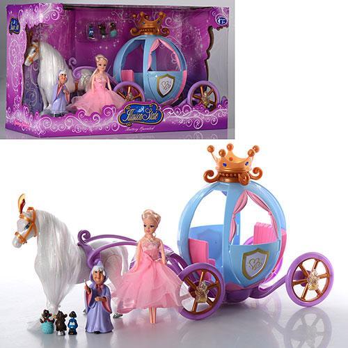 Игровой набор Bambi 205 А Карета с лошадкой и куклой