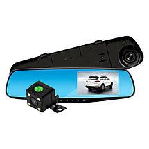 Автомобильный видеорегистратор (авторегистратор зеркало заднего вида) DVR 138EH (2 камеры), фото 3