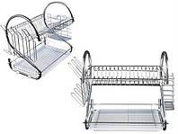 Сушка для посуди двохрівнева настільна HQ, фото 1