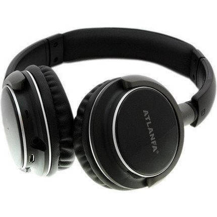 Беспроводные наушники с микрофоном ATLANFA AT-7612 с Bluetooth, MP3 и FM, гарнитура для телефона, ПК, фото 2