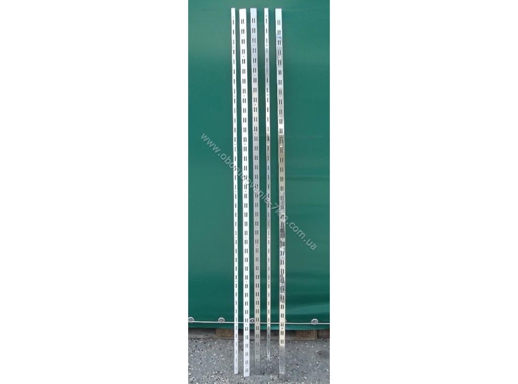 Рейка одинарная белая пристенная 2м направляющая,номер 1.