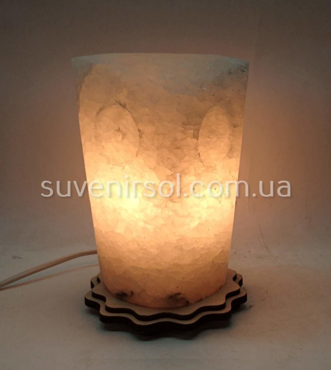 Соляной светильник Цилиндр Сова большая