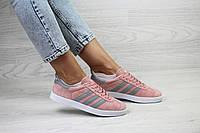 Adidas Gazelle женские кроссовки розовые (Реплика ААА+), фото 1