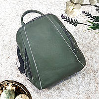 Стильный фисташковый рюкзак из натуральной кожи, фото 1