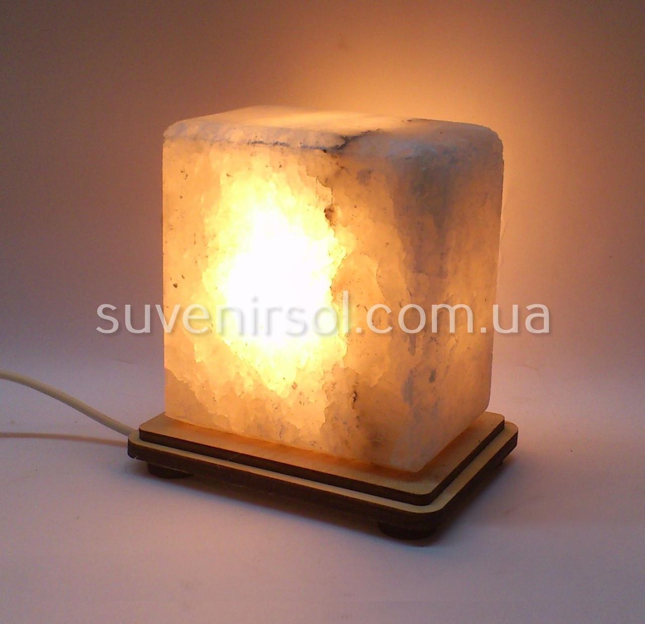 Соляной светильник Квадратик маленький