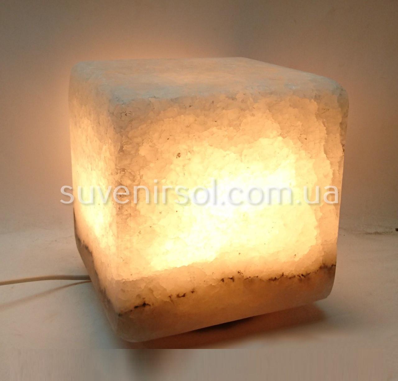 Соляной светильник Куб большой