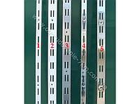 Рейка двойная хромированная пристенная 2м направляющая (Китай),есть усиленная -170грн