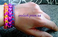 Плетение браслетов из резинок урок 1