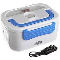 Электрический ланч-бокс Electronic Lunchbox с подогревом голубой